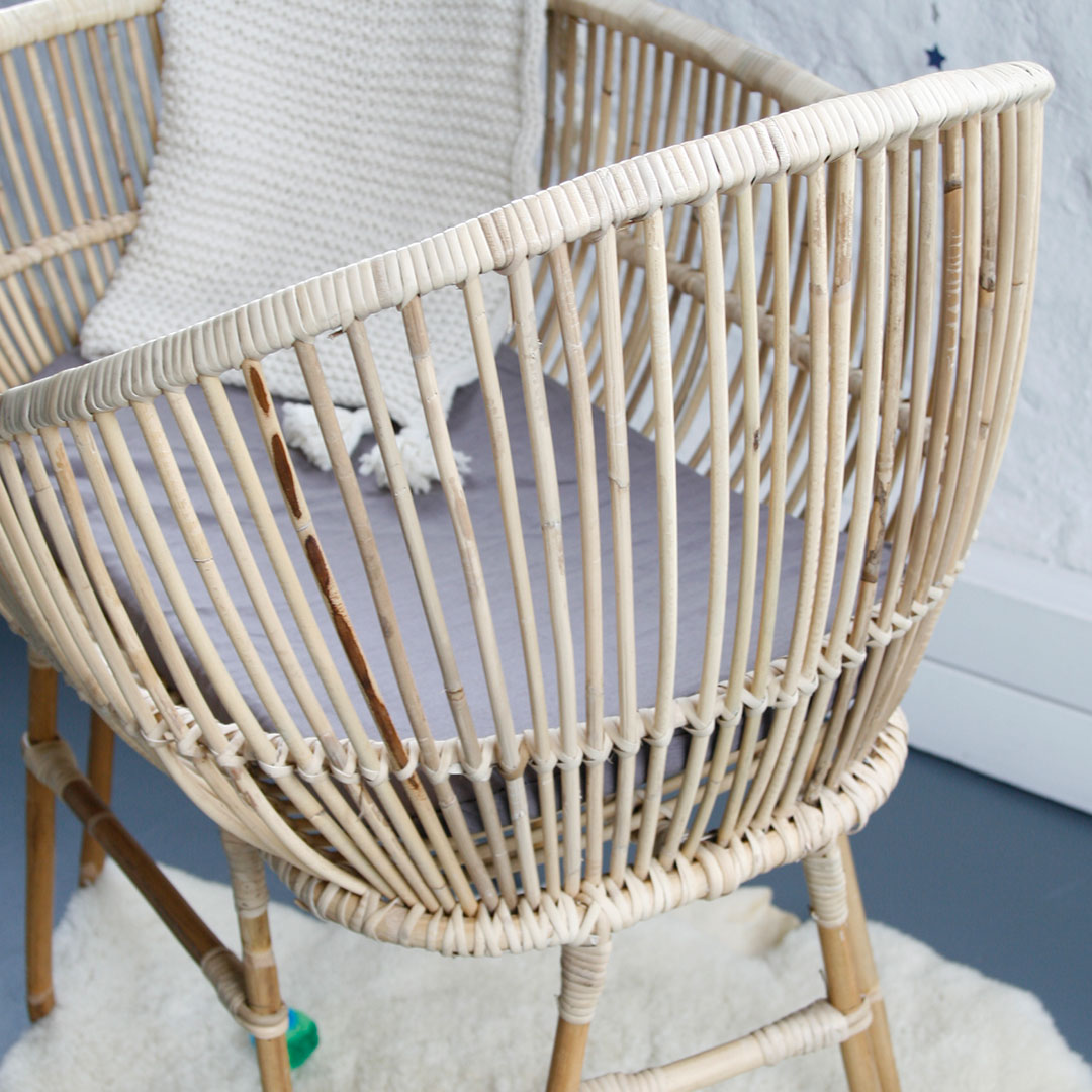 Wicker crib for sale durban -  Rattan Baby Crib L B