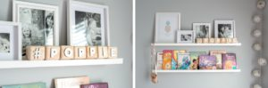 Diy book shelf wood block letters