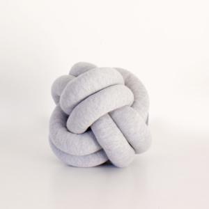 Small Grey Knot cushion