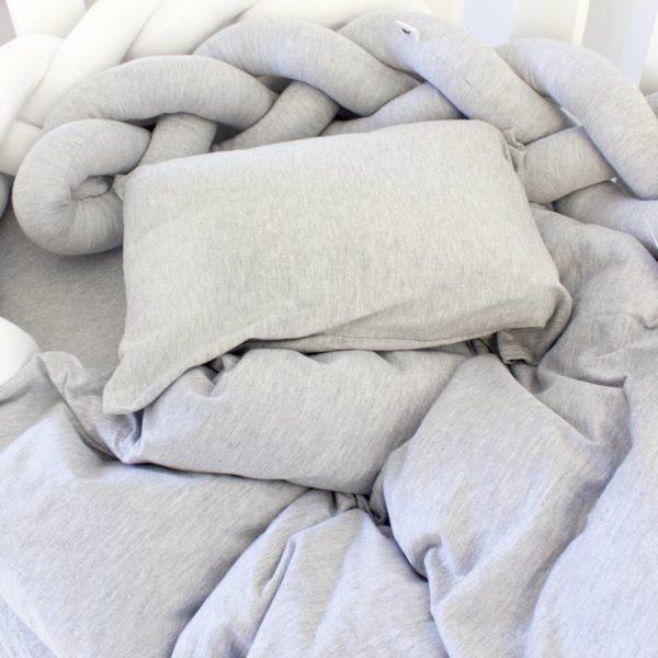 Soft Grey T Shirt Cot Bedding