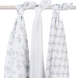 Hydrophilic Swaddle Blanket 3Pk Forest Friends