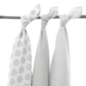 Hydrophilic Multi Cloth 3Pk Owls Grey