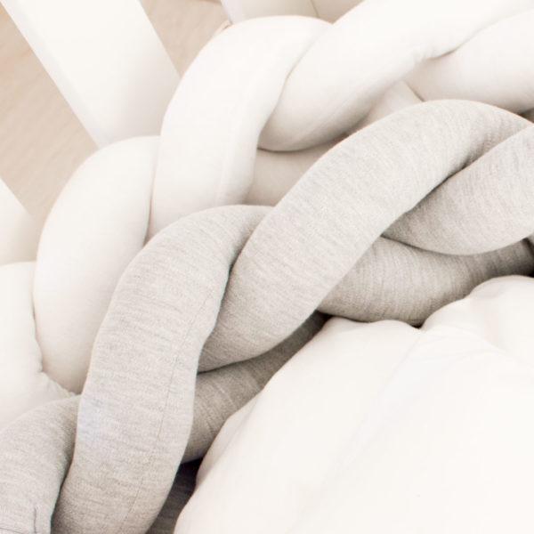 Koeksister Knot Cot Bumper Grey & White