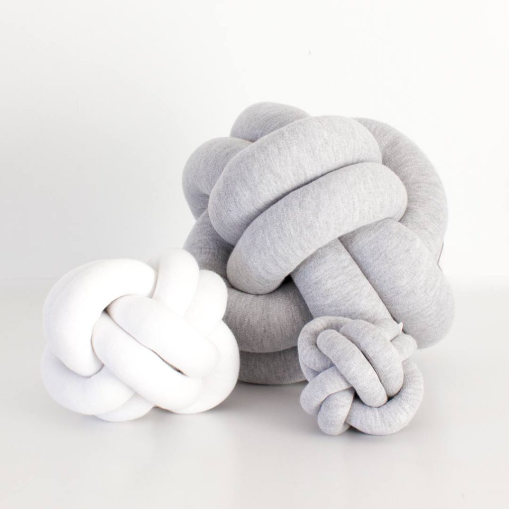 Knot cushions and baby rattles