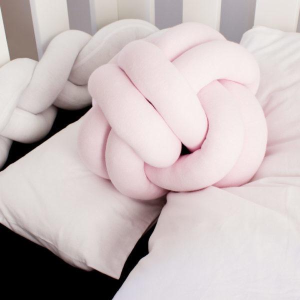 T Shirt Cot Bedding, Knot Scatter Pillows