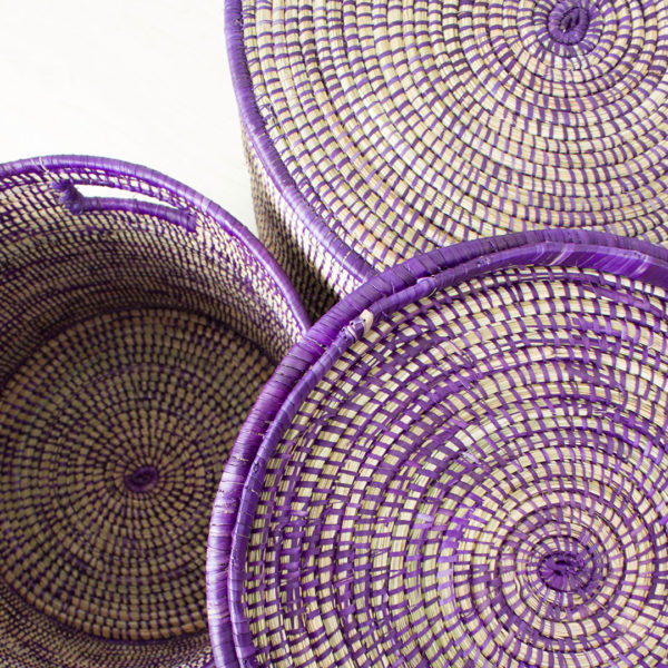 Purple storage basket
