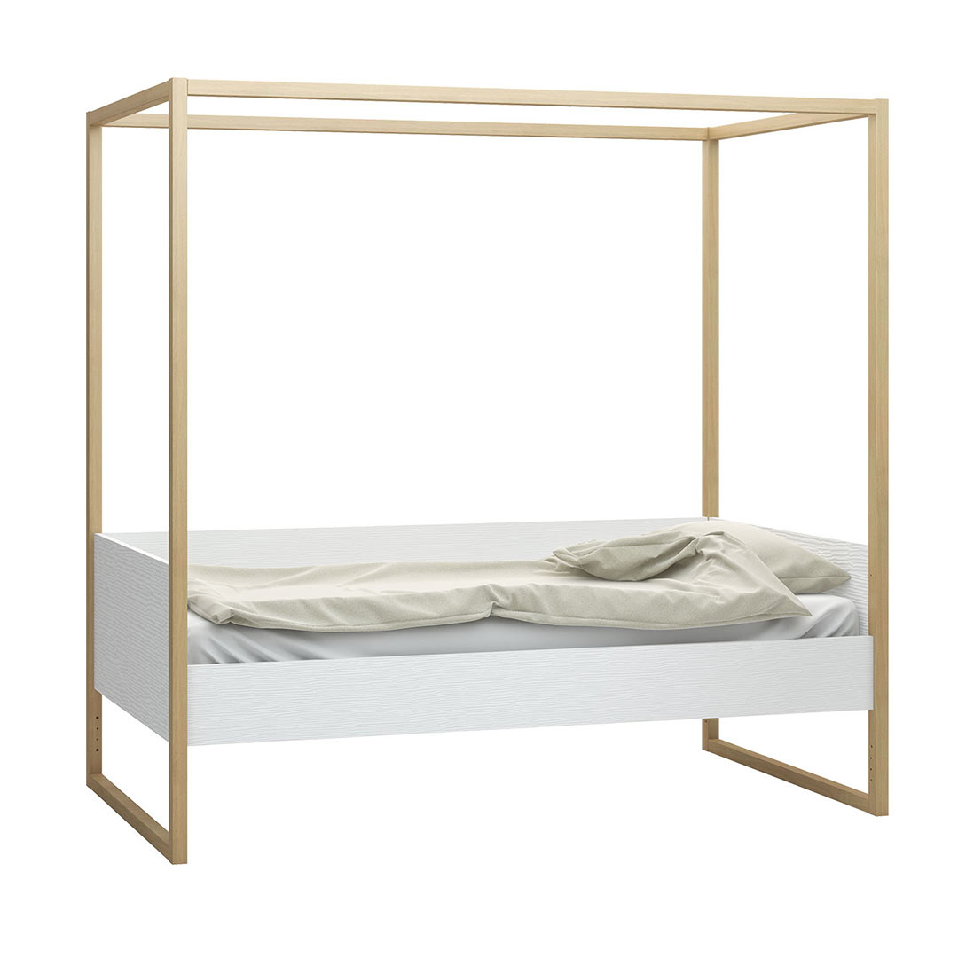 Contemporary 4you canopy bed by vox clever little monkey for Home furniture beds