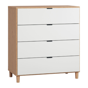 Vox Simple Dresser with Functional Slat - White