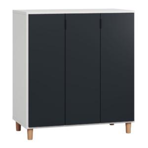 Vox Simple Cupboard - White & Black