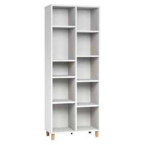 Vox Simple Double Bookcase - White