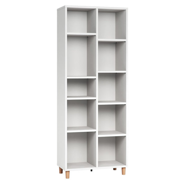 Vox Simple Double Bookcase - White
