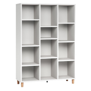 Vox Simple Low Bookcase - White