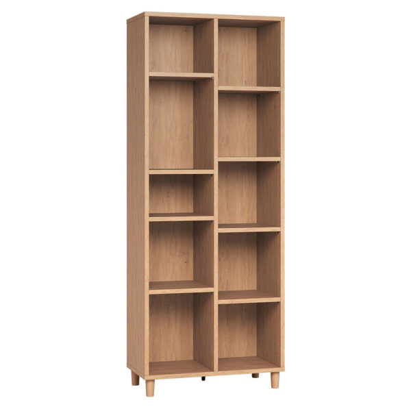 Vox Simple Double Bookcase - Oak