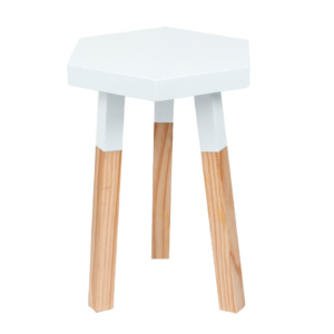 White Hexagon Stool