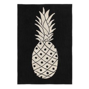 B&W Pineapple Rug