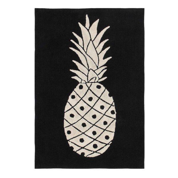 B&W Pineapple Rug