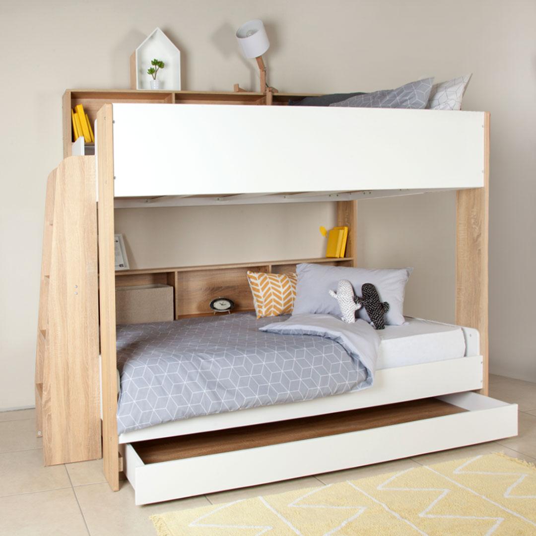 Loft Bed: Adventure 3 Sleeper Bunk Bed - 3/4 Bunk