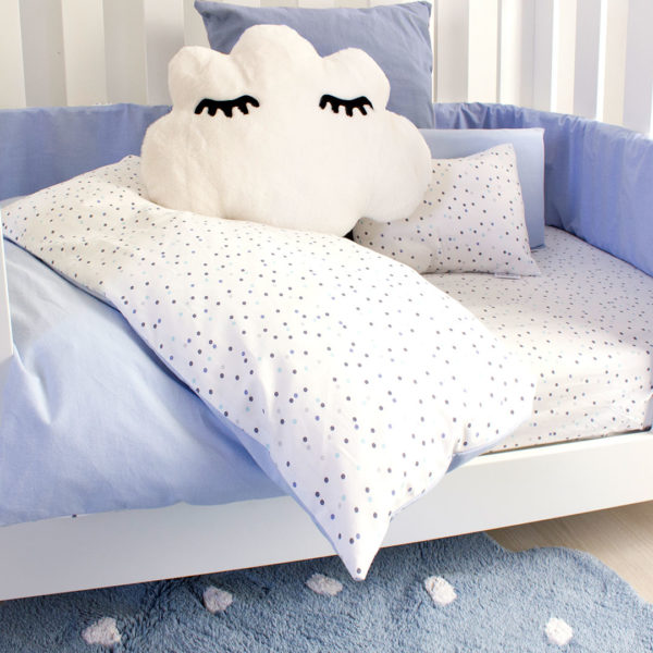 Blue Wild Dot Cot Set