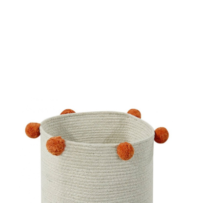 Basket Bubbly Natural Terracota