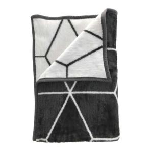 Geometric Blanket - Charcoal