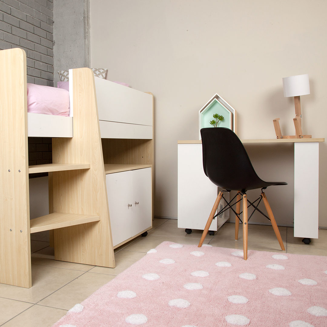 Niko Loft Bunk Bed With Roll Out Desk Cabinet Clever Little Monkey
