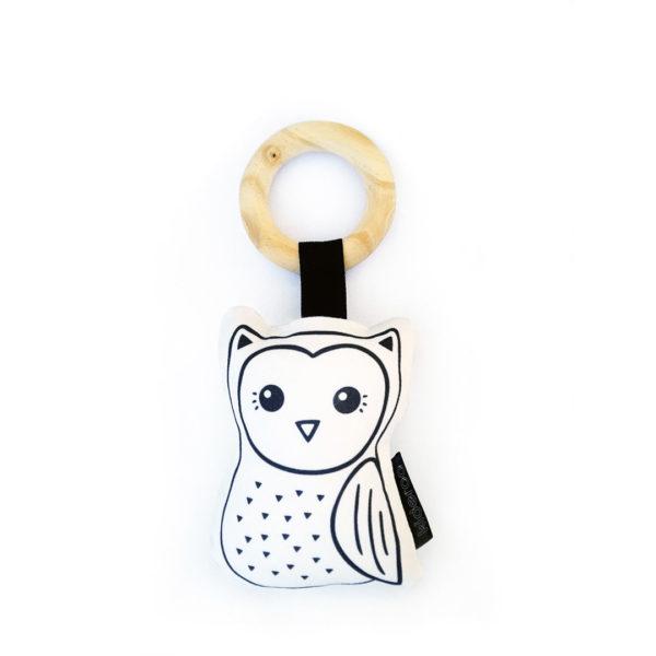 Owl Plush Baby Rattle