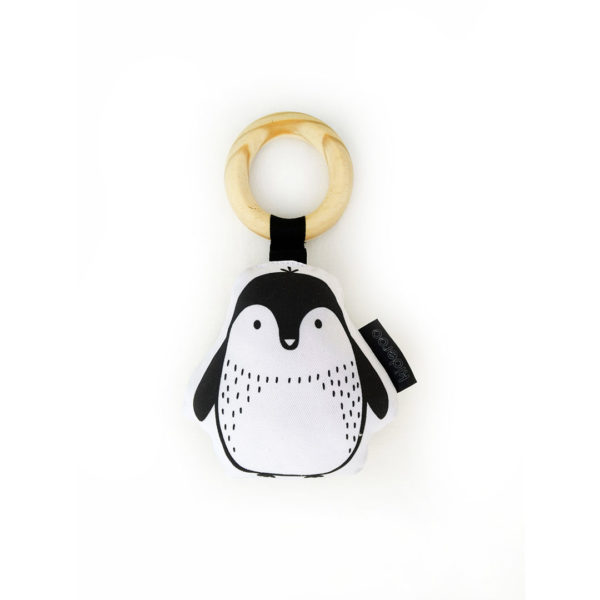Penguin Plush Baby Rattle