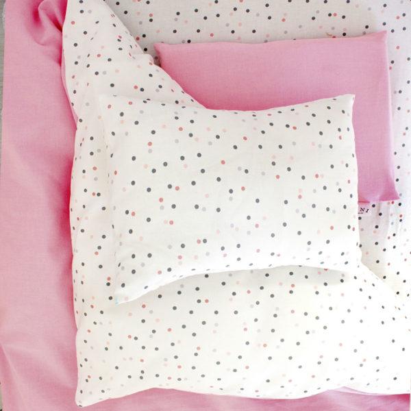 Pink Wild Dot Cot Set