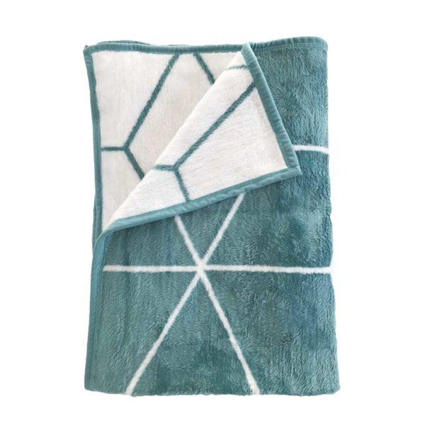 Geometric Blanket - Teal