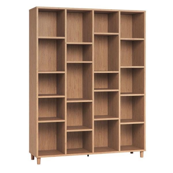 Vox Simple Wide Bookcase Oak