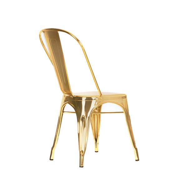 Replica Tolix Chair Metallic - Gold