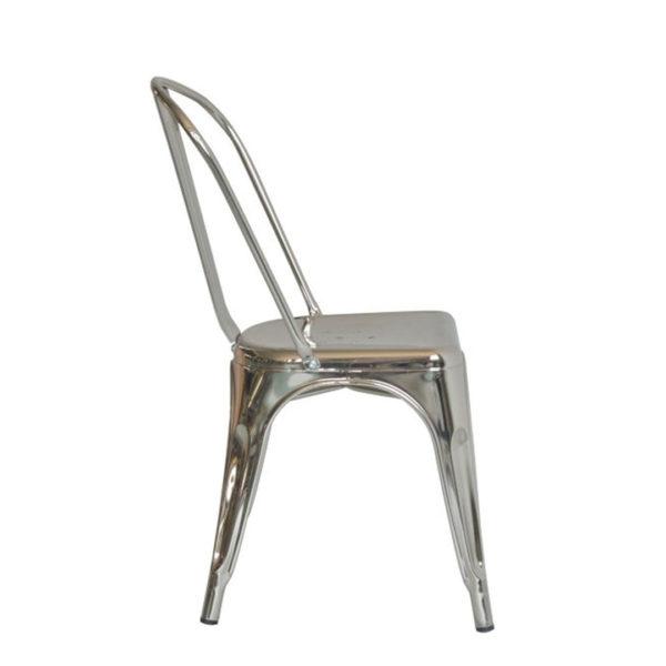 Replica Tolix Chair Metallic - Silver