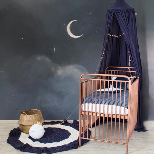 Blue Celestial Cot Set