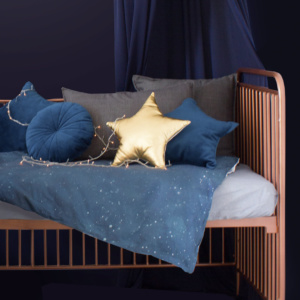 Blue Celestial Cot Bedding