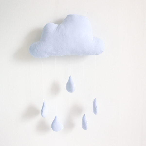 Cloud Raindrop Mobile - Blue