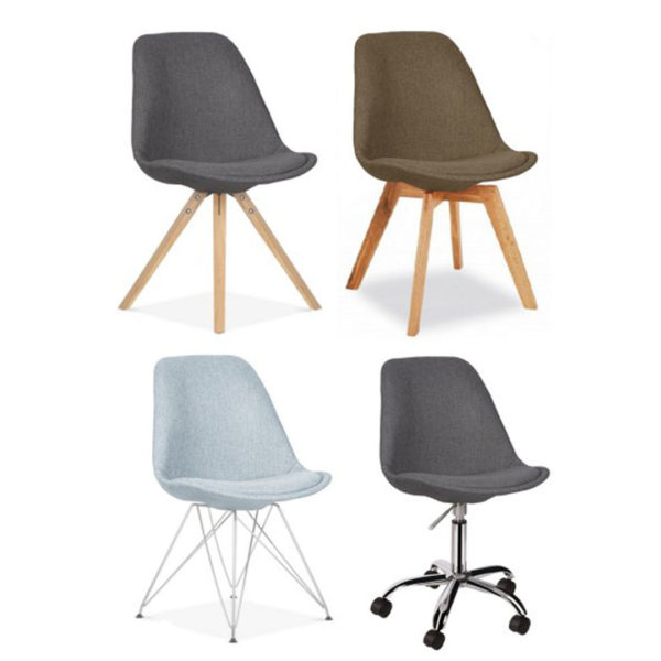 Upholstered Eames Style Chair