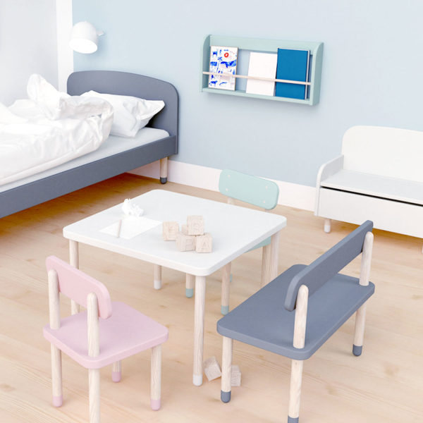 Play Square Table White