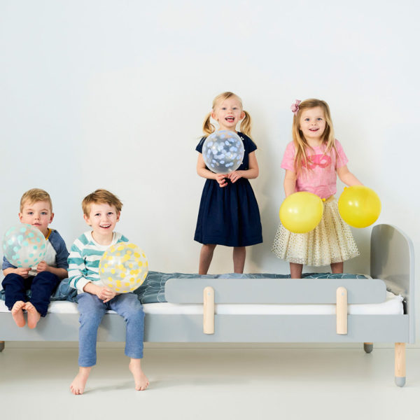 Flexa Play Bed Grey with Play Safety Rail