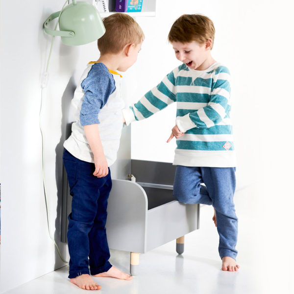 Flexa Grey Play Storage Bench