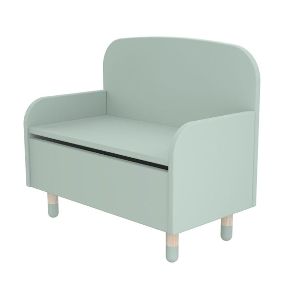 Play Storage Bench with Backrest Mint