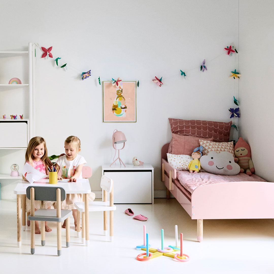 Adorable Full Kids Bedroom Set For Girl Playful Room Huz: Play High Back Chair By Flexa