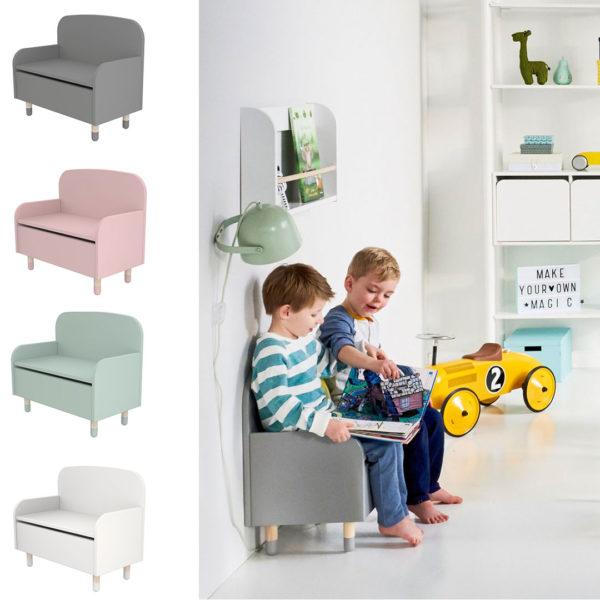 Flexa Storage Bench with backrest