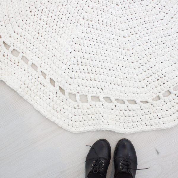 Crochet Rug - Ivory
