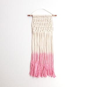 Macrame wall hanging - pink