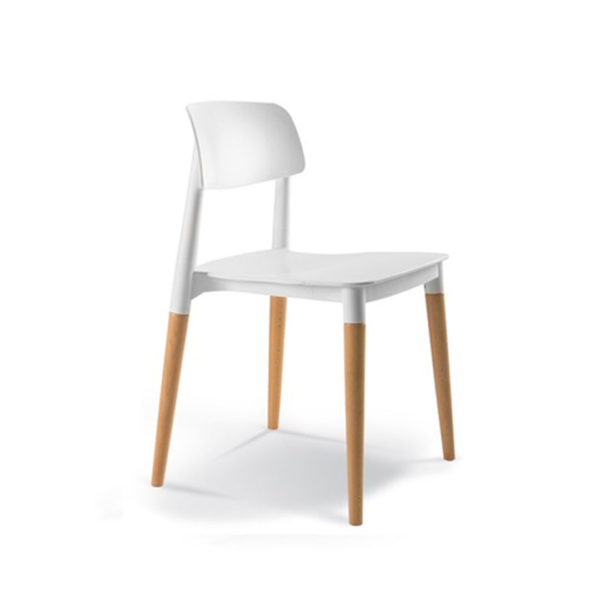 Stacking Chair - White