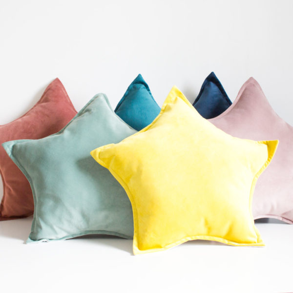Velvet Star Scatter Pillows