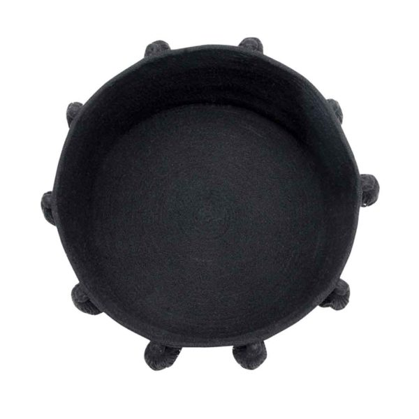 Tassel Basket - Black - Top