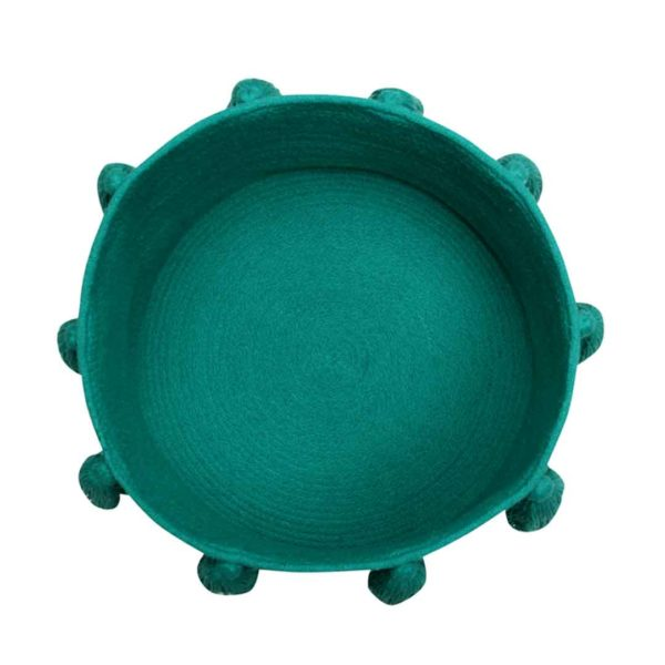 Tassel Basket - Emerald - Top