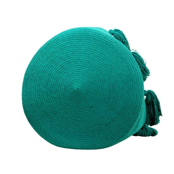 Tassel Basket - Emerald - Bottom