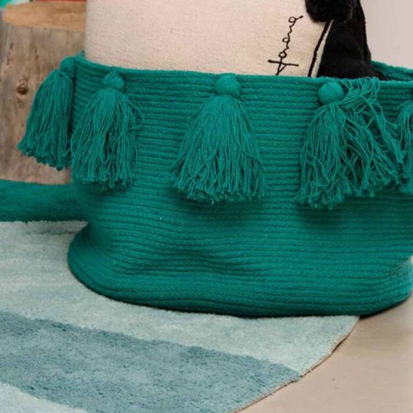 Tassel Basket - Emerald
